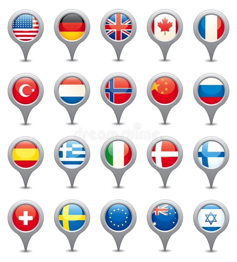 National Flags stock illustration