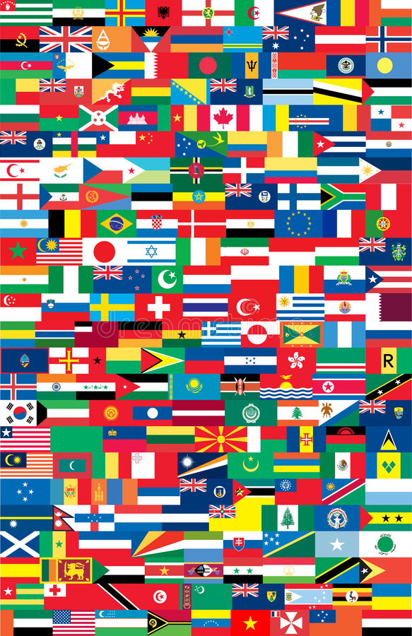 Download National flags stock vector. Illustration of complete - 8573294