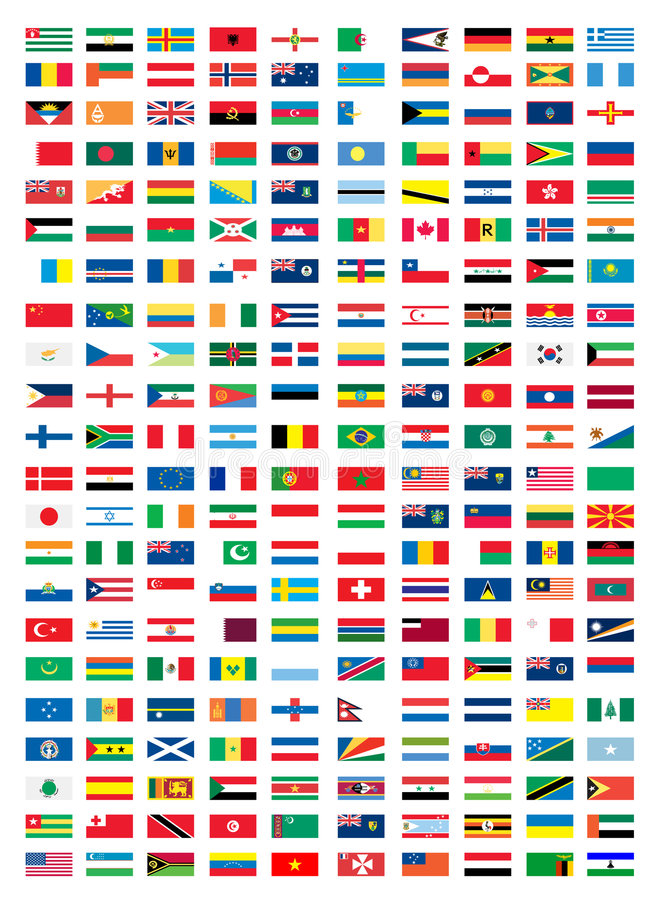 Download National flags stock vector. Image of illustration, finance - 8573666