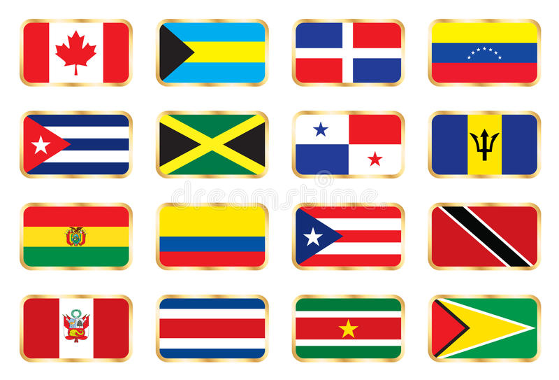 Download National Flags - American Set. Stock Vector - Image: 13937951