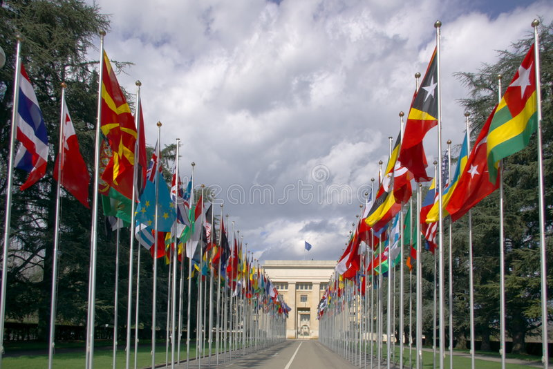 National flags gallery stock images