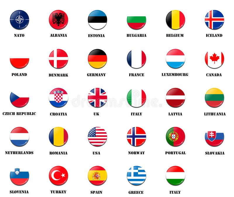 Download National Flags From NATO Members Stock Illustration - Image: 28858024