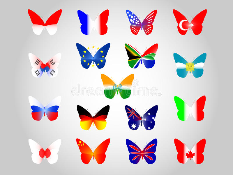 Download National flags stock vector. Image of flages, beauty - 40633687