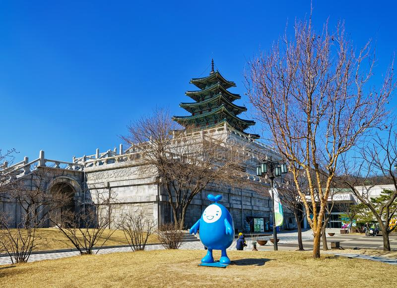 National Folk Museum of Korea in Gyeongbokgung Palace in Seoul royalty free stock photography