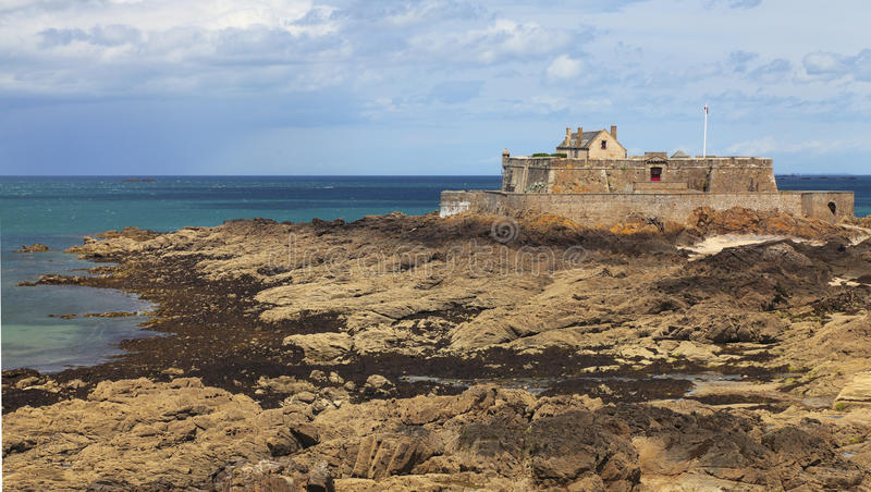 The National Fort from Saint Malo stock photos
