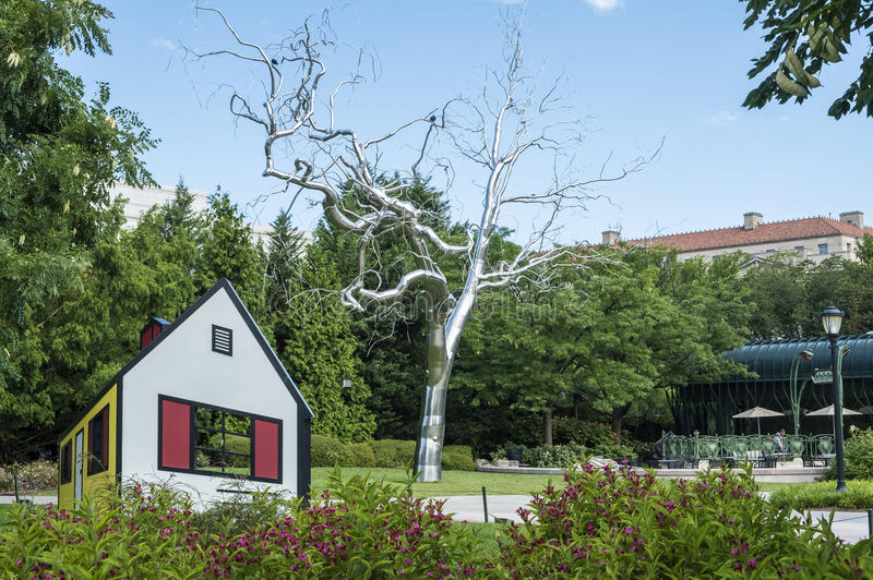 National Gallery of Art Sculpture Garden stock image