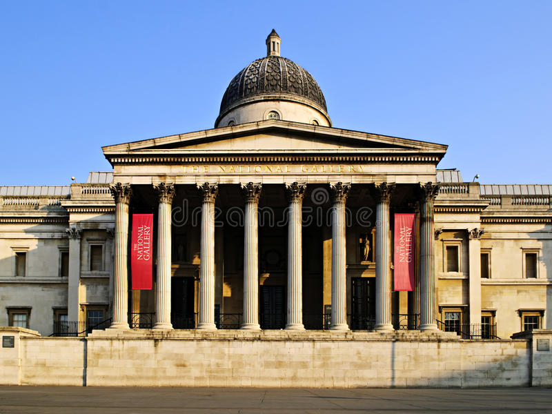 National Gallery building in London stock photos