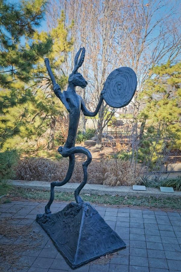 National Gallery del Washington DC del jardín público de Art Sculpture imagen de archivo libre de regalías