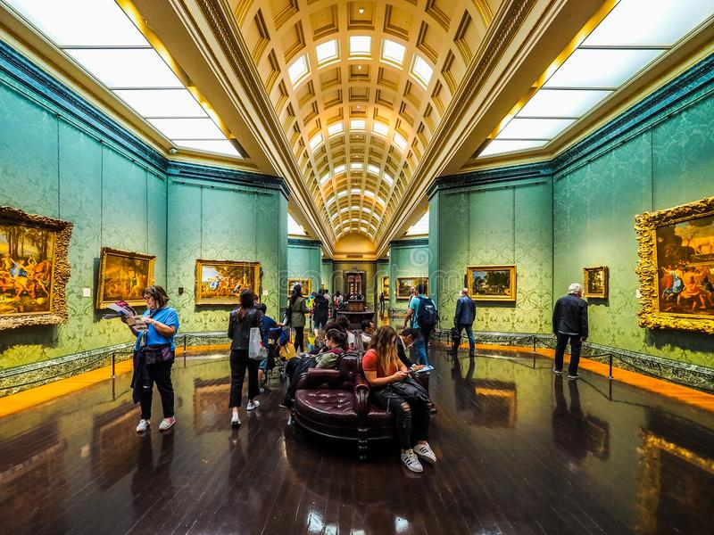 National Gallery en Londres, hdr fotos de archivo libres de regalías