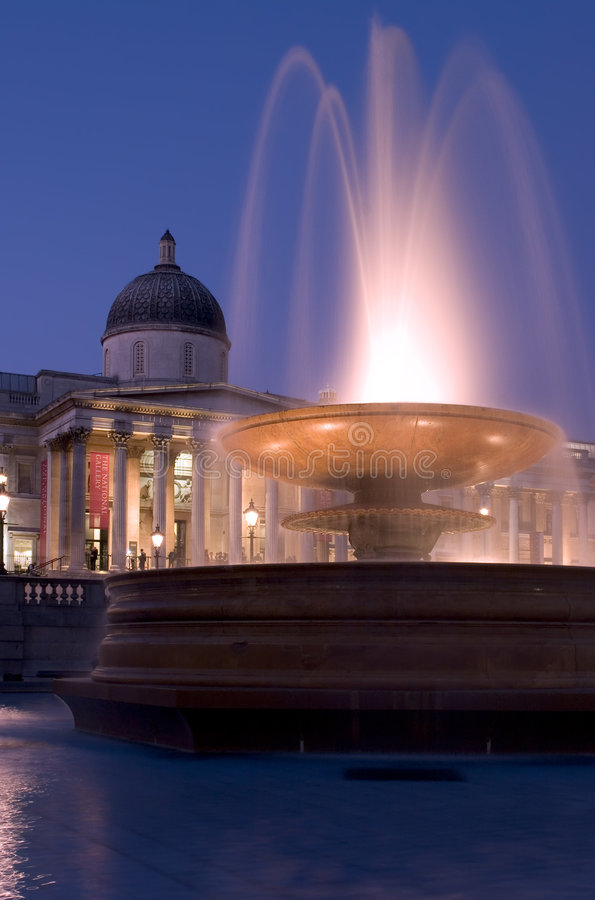 National Gallery and Fountain royalty free stock image