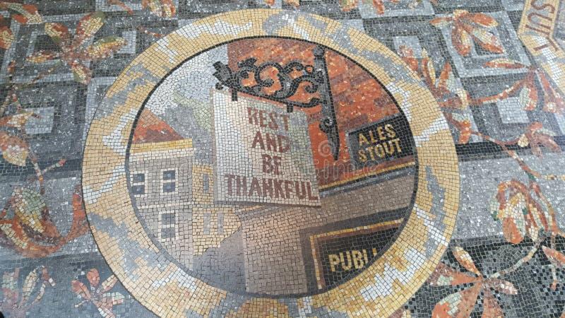 National Gallery Hall - mozaikgolvet vilar och är tacksamt royaltyfria foton
