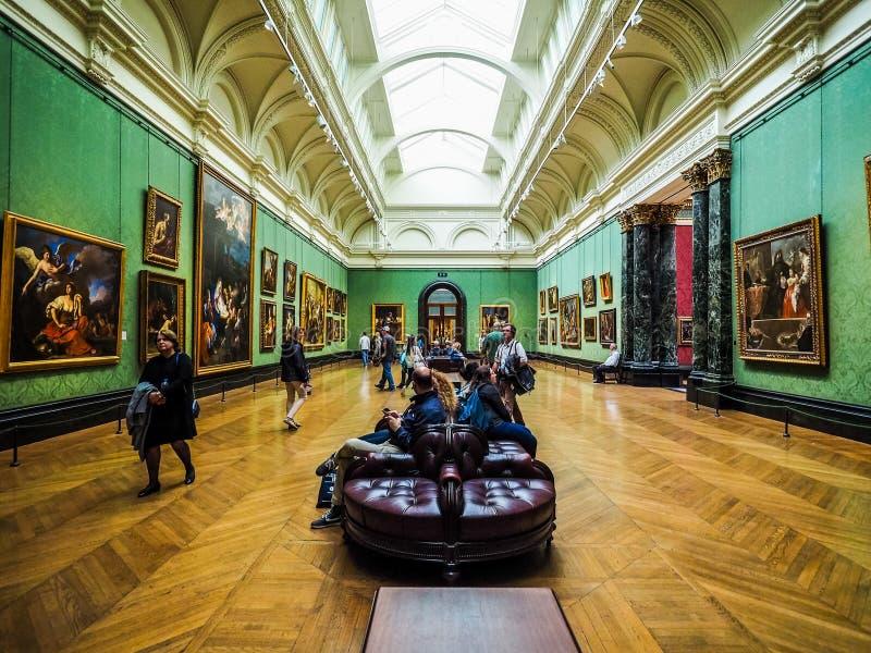 National Gallery i London (hdr) fotografering för bildbyråer