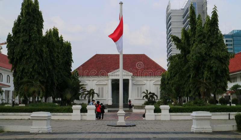 National Gallery. JAKARTA, INDONESIA - MAY 9, 2017: The National Gallery of Indonesia or Galeri Nasional at Medan Merdeka Timur street 14 Jakarta. A museum and stock photo