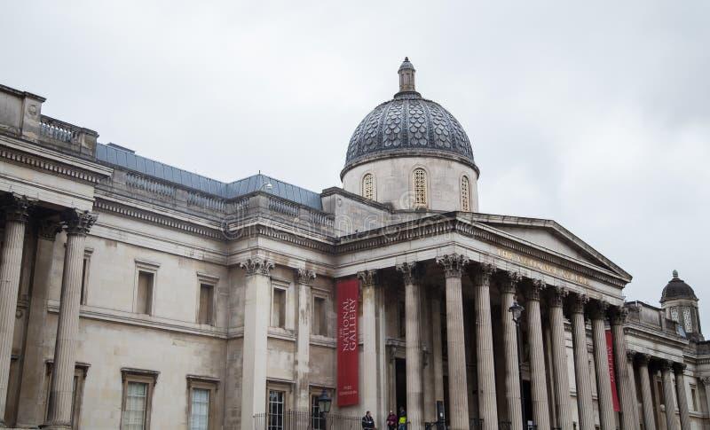 National Gallery, London, Februari 2019 royaltyfria foton