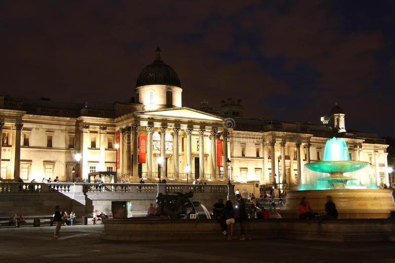 National Gallery in London at night