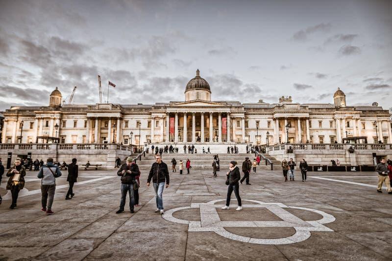 National Gallery Londres, Trafalgar Square fotos de stock royalty free