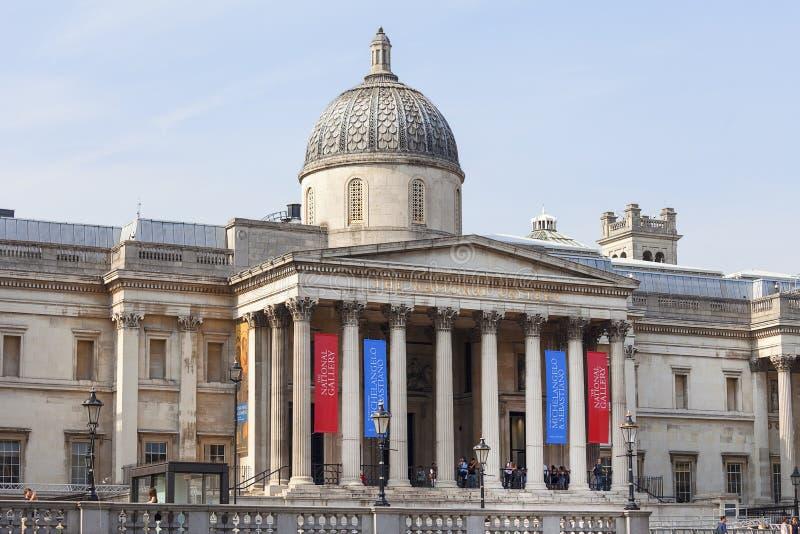 National Gallery, museu de arte em Trafalgar Square, Londres, Reino Unido fotos de stock