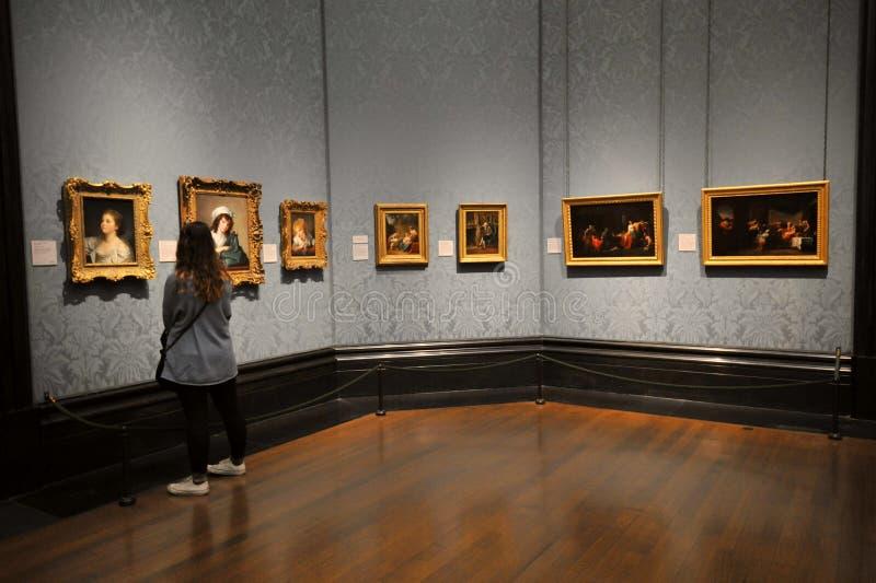 National Gallery muzeum w Londyn, Anglia obraz stock
