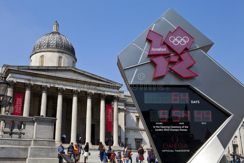 Download National Gallery And Olympic Countdown Clock Editorial Stock Image - Image of famous, arts: 26806059