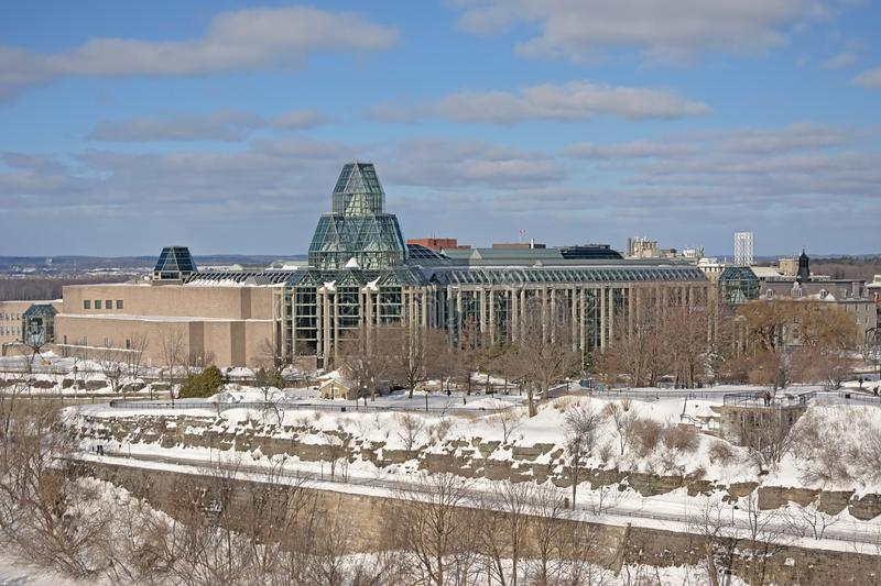National gallery, Ottawa on a winter day royalty free stock photo