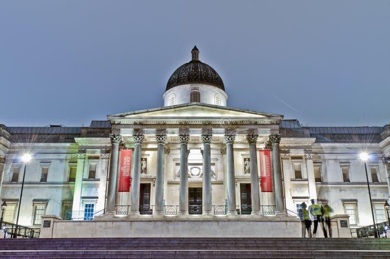 National Gallery på London, England arkivfoton