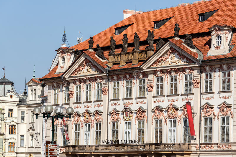 National gallery in Prague, Czech Republic. National gallery (Kinsky Palace) in Prague, Czech Republic 2014 royalty free stock photos