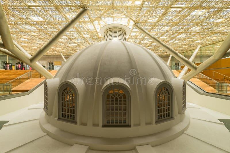 National Gallery Singapore, Iconic gränsmärke royaltyfria foton