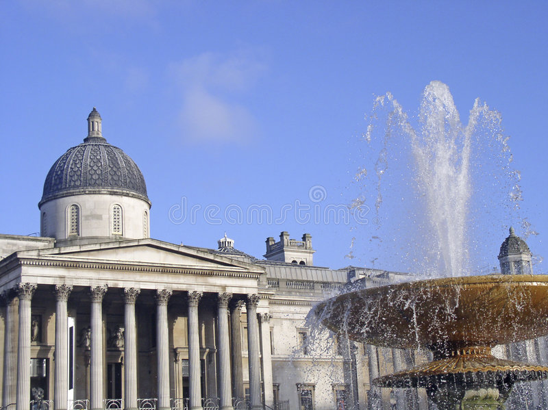 Download National Gallery In Trafalgar Square Stock Image - Image of city, fountain: 48027