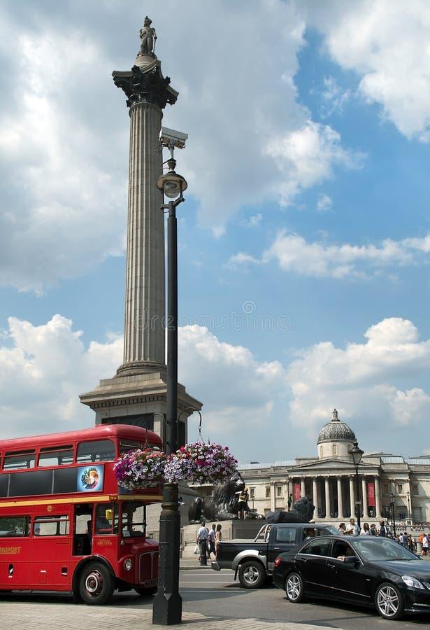 National Gallery, Trafalgar Square, Londres, Inglaterra, Reino Unido fotos de stock royalty free