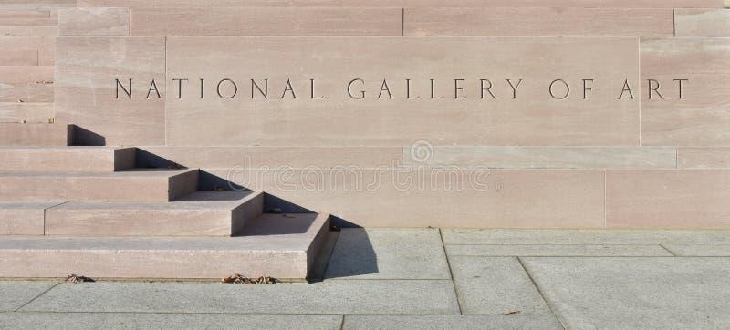National Gallery van Art Sign stock afbeeldingen