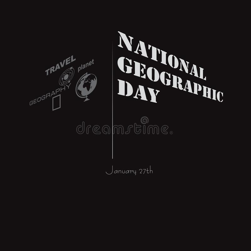 National Geographic Day. Geographical event celebrated in January stock illustration