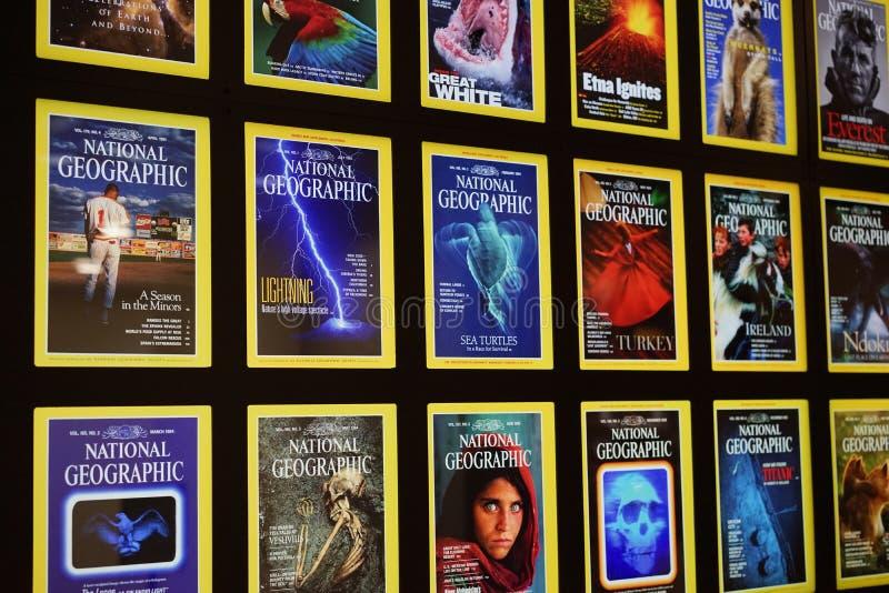 National Geographic iconic räkningar royaltyfria foton