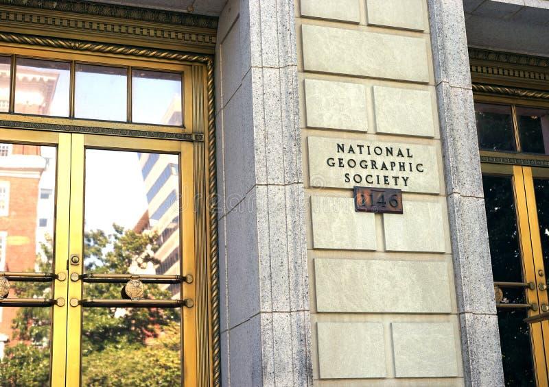National Geographic samhälle, Washington D C royaltyfria foton