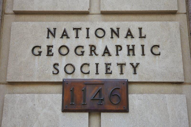 National Geographic samhälletecken arkivbild