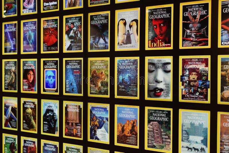 National Geographic tidskrifträkningar arkivbilder