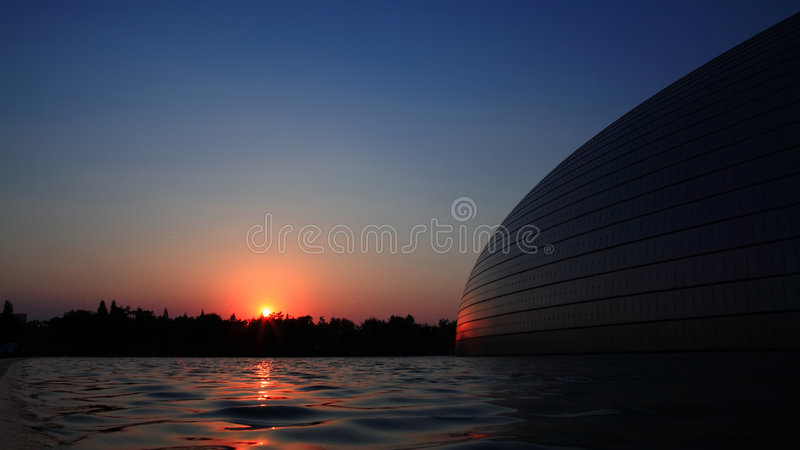The National Grand Theater In Beijing Royalty Free Stock Photos