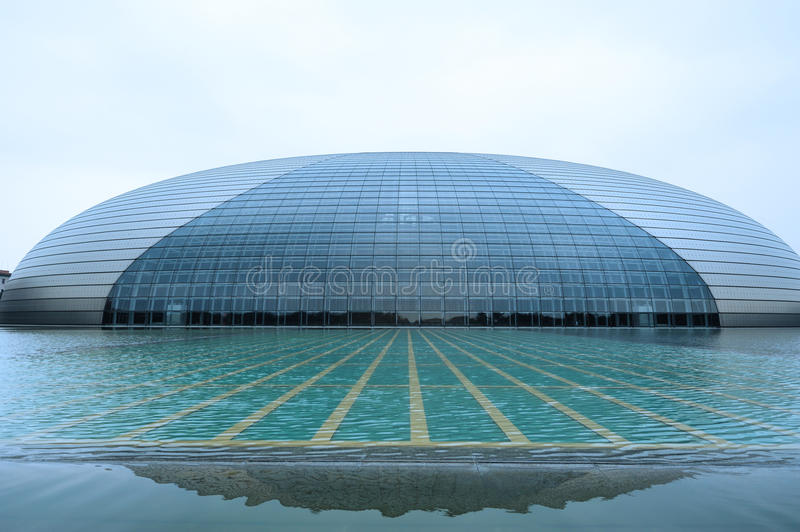 National Grand Theater, Beijing, China royalty free stock image