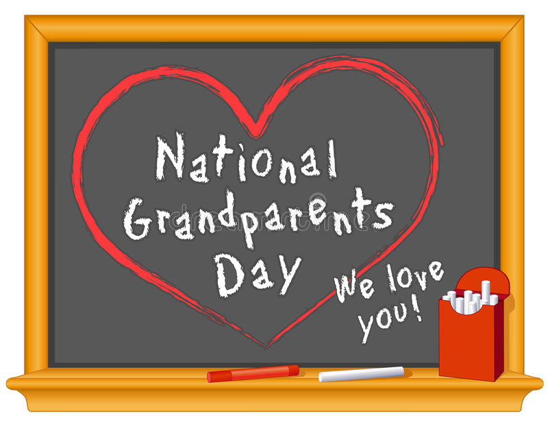 Grandparents Day, American National Holiday. National Grandparents Day is a holiday to honor grandparents, observed annually on the 1st Sunday of September stock illustration