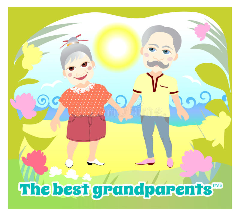 National Grandparents Day. Greeting card. Greeting card. National Grandparents Day royalty free illustration