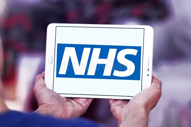 National Health Service , NHS , logo. Logo of National Health Service , NHS , on samsung tablet. The National Health Service NHS is the publicly funded national royalty free stock photos