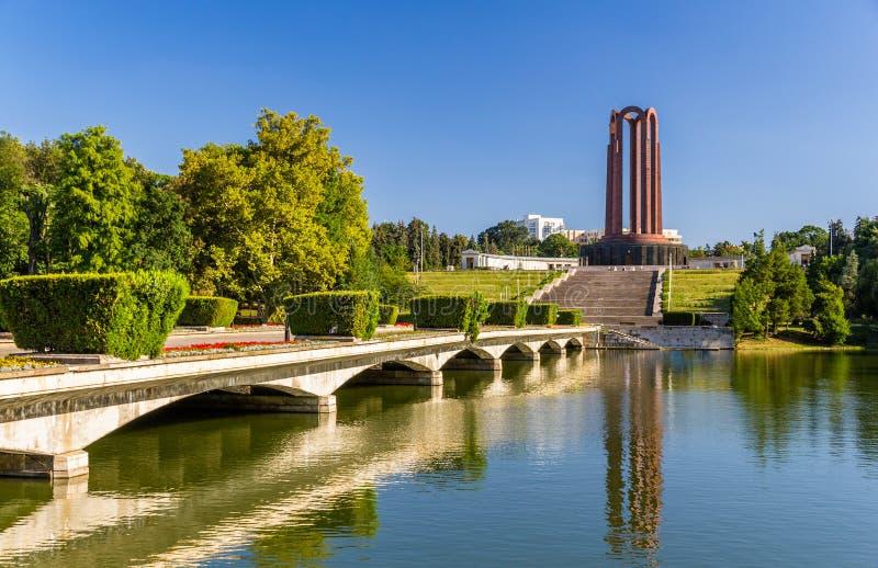 National Heroes Memorial in Carol Park - Bucharest. Romania stock image