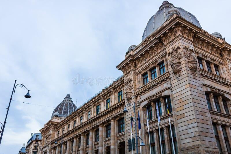 National History Museum building i Bukarest, Rumänien royaltyfria foton