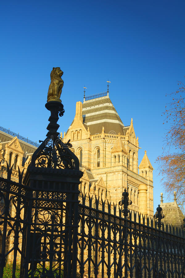 National History Museum in London, clear blue sky