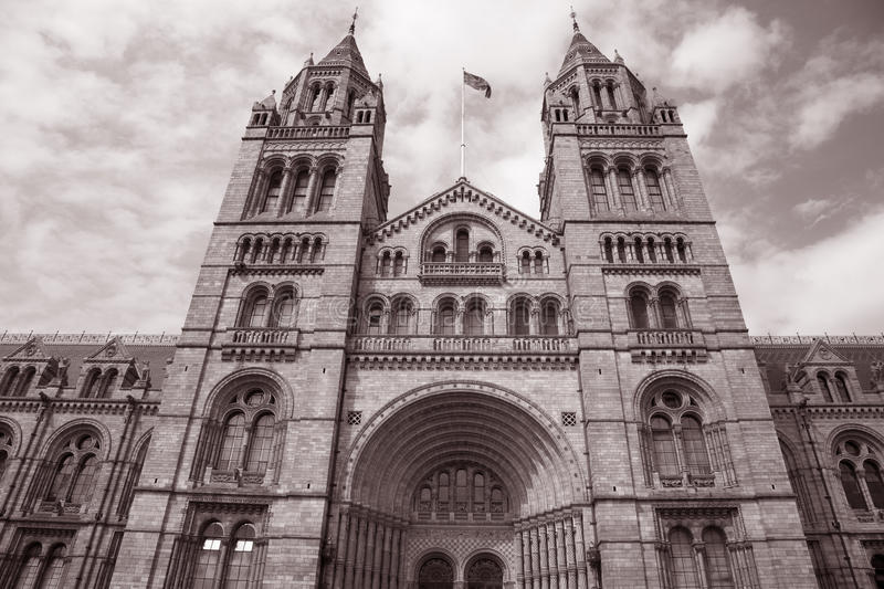 National History Museum in Sepia Tone