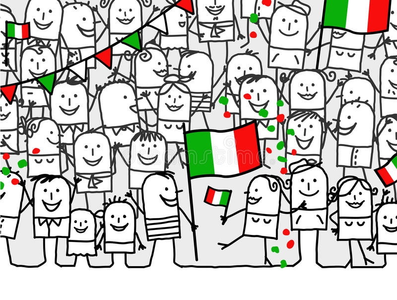 National holiday - Italy vector illustration