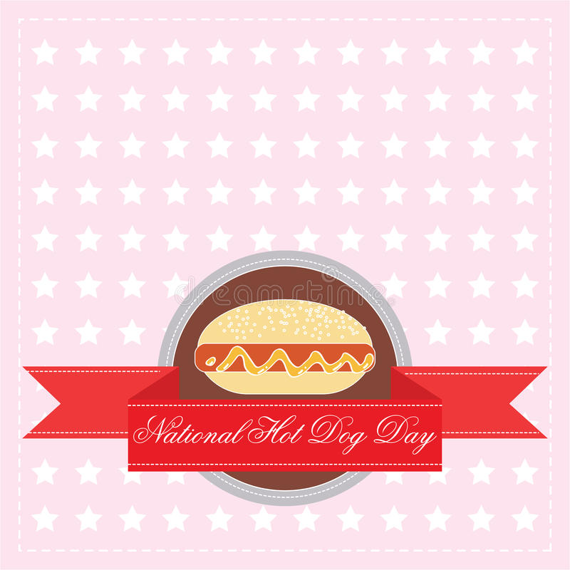 National Hot Dog Day vector illustration