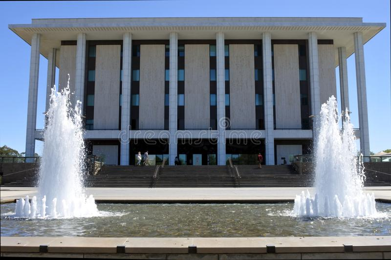 National Library of Australia in Canberra Parliamentary Zone Australia Capital Territory. It is the largest reference library in Australia stock photo