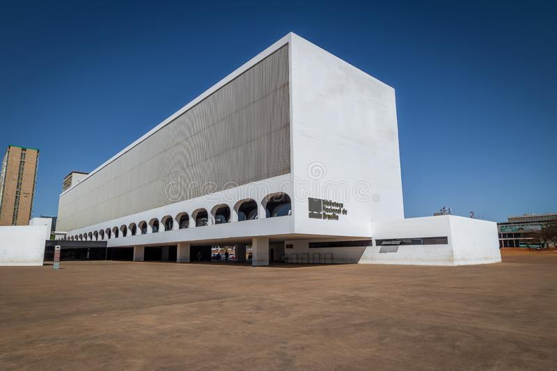 National Library - Brasilia, Distrito Federal, Brazil stock photos