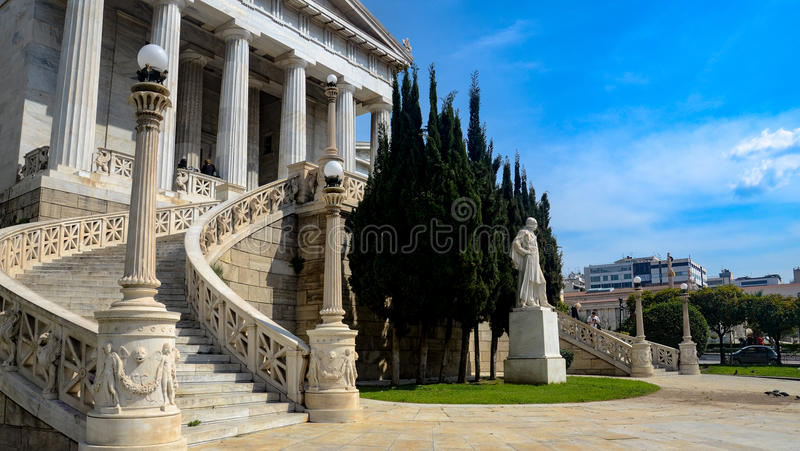National Library of Greece. The National Library of Greece is situated near the center of city of Athens. It was designed by the Danish architect Theophil stock images