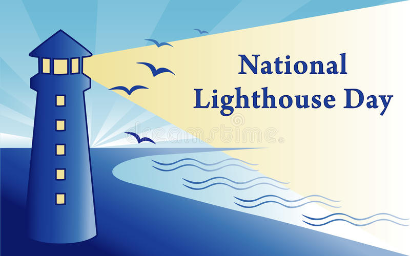Download National Lighthouse Day stock vector. Image of coast - 20427212